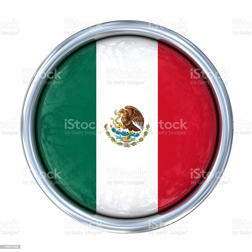 mexican flag on button royalty-free stock photo