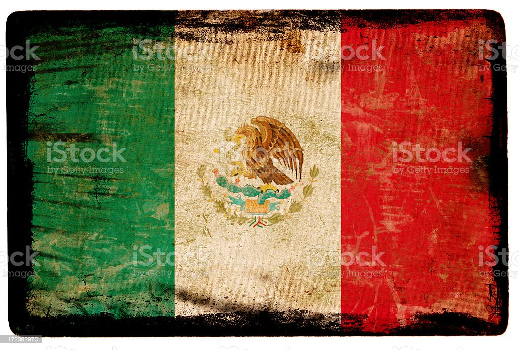 Mexican Flag XXL royalty-free stock photo