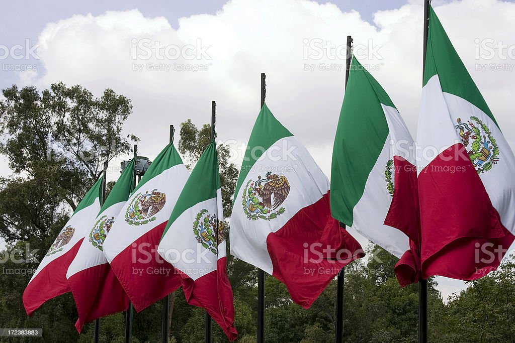 mexican flags royalty-free stock photo