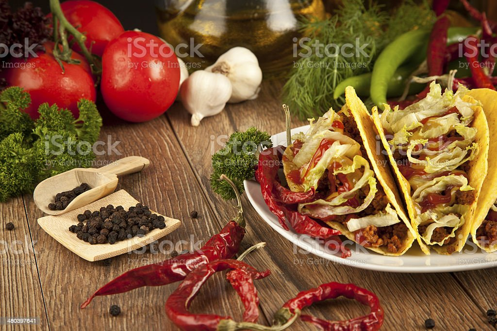 Mexican food Taco stock photo