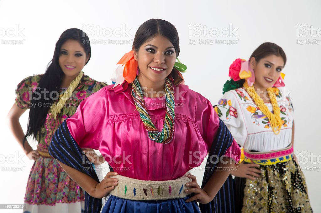 Mexican girl stock photo