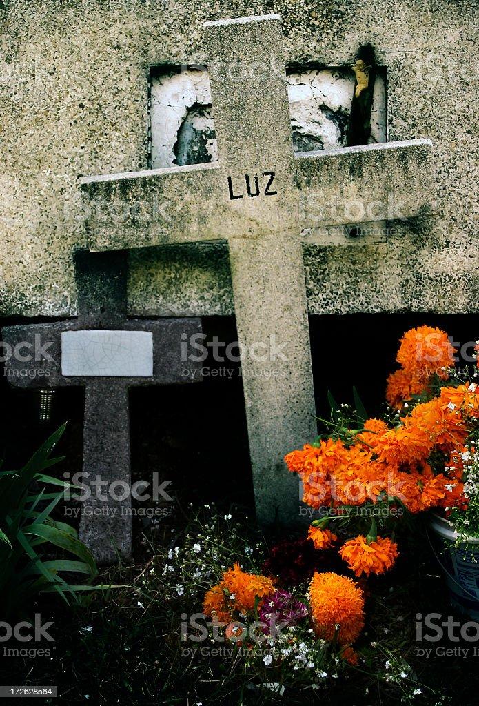 mexican grave, dia de muertos stock photo