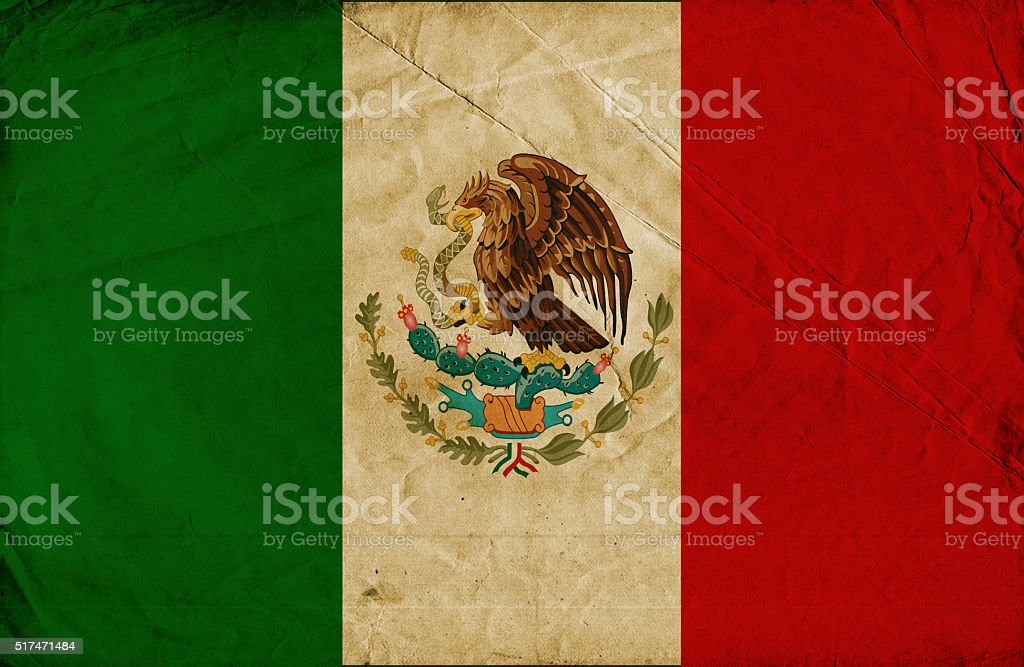 Mexican grunge Flag stock photo