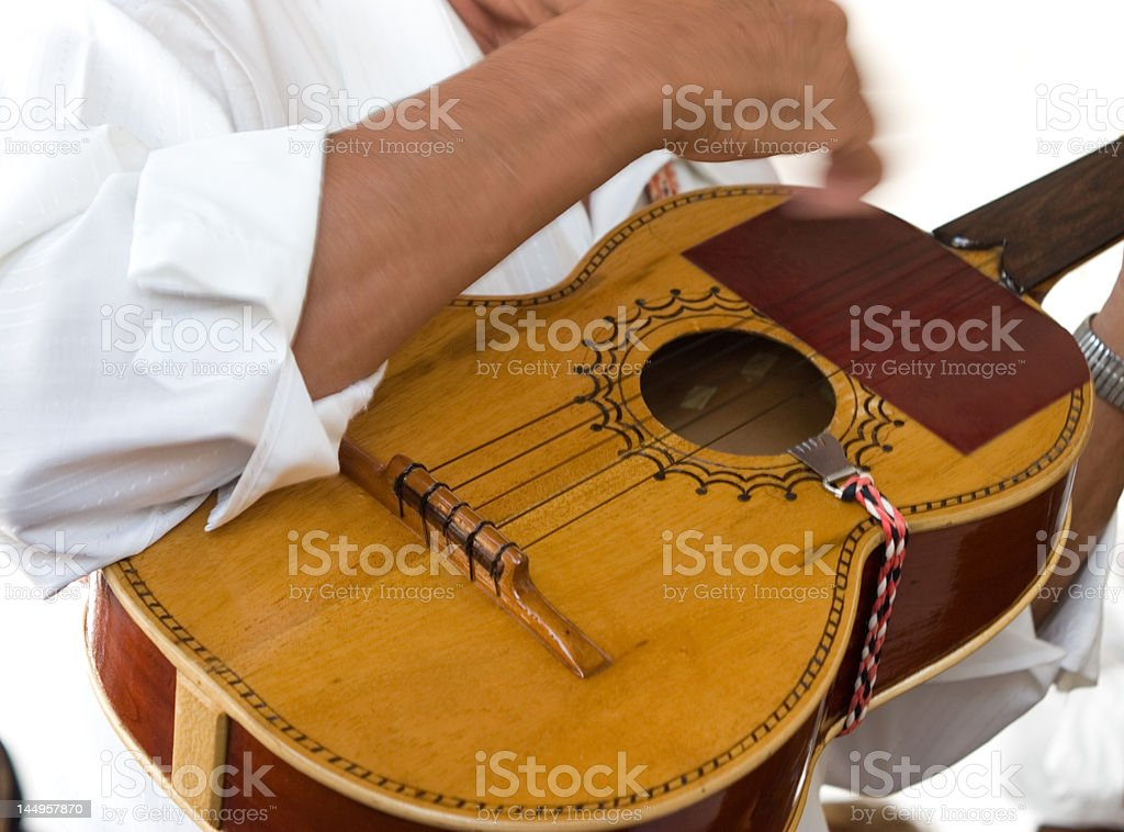 Mexican Guitar stock photo