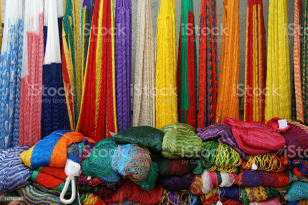 Mexican Hammocks royalty-free stock photo