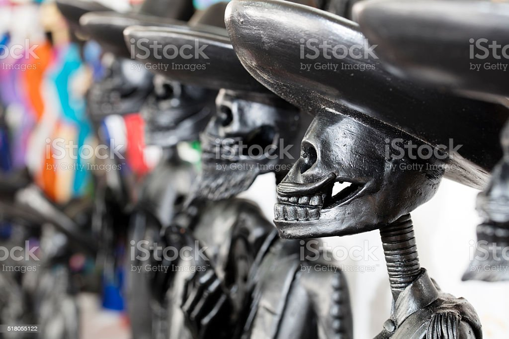 Mexican handycraft, day of the dead, skeleton stock photo
