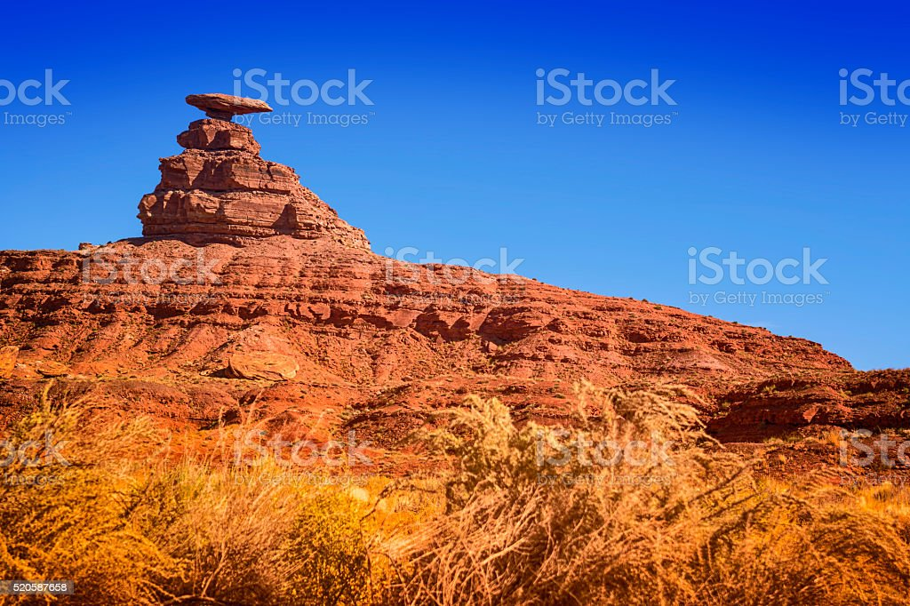 Mexican Hat Rock stock photo