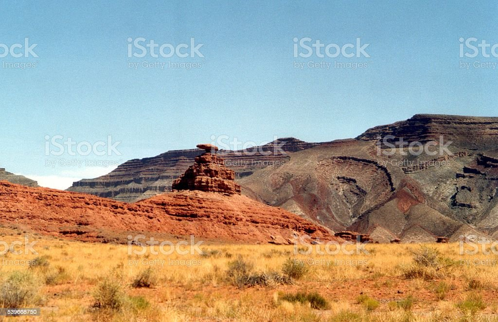 Mexican Hat rock, Utah stock photo