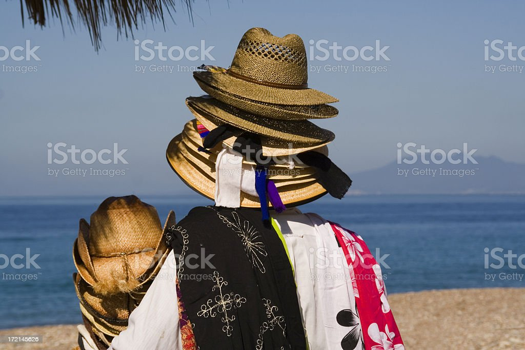 Mexican Hat Seller stock photo