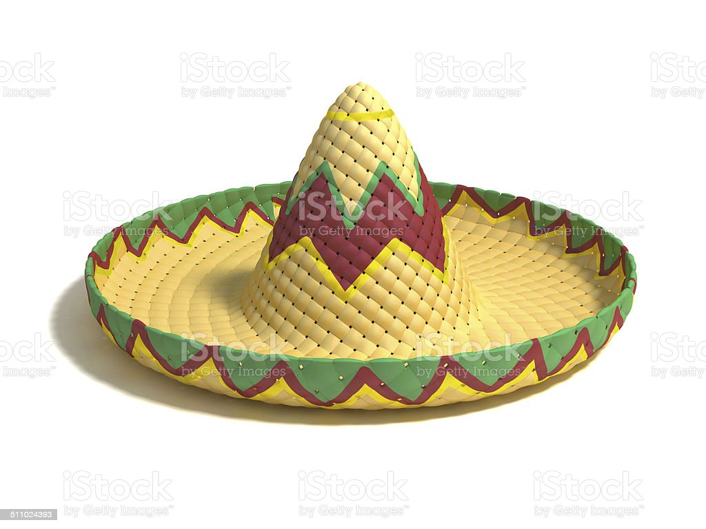 mexican hat sombrero 3d illustration stock photo