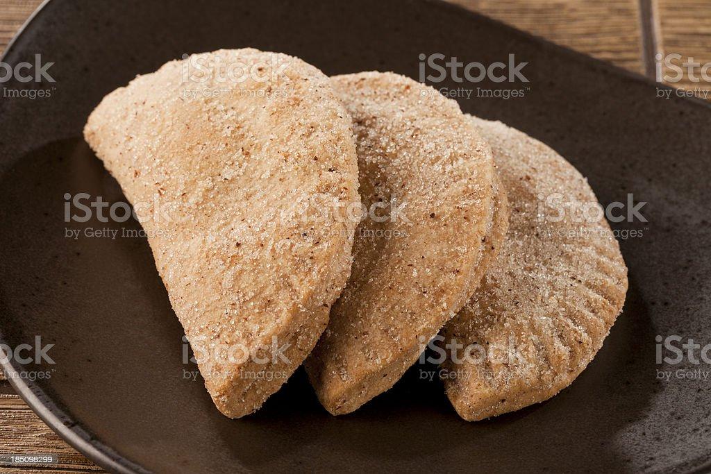 Mexican Homemade Cookies (empanadas) royalty-free stock photo