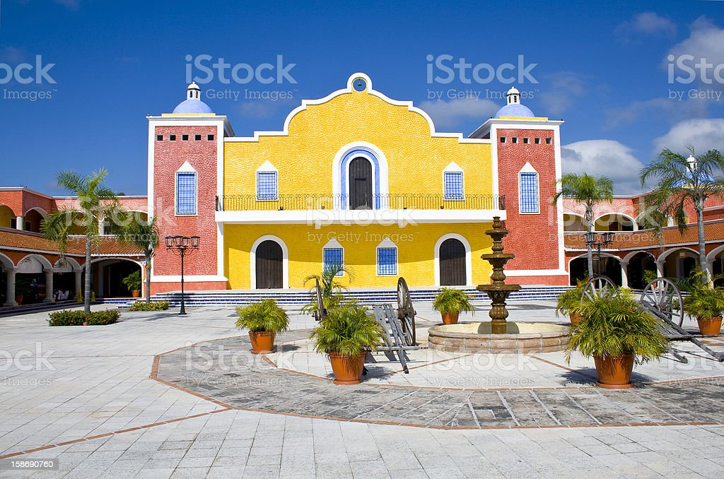 Mexican house stock photo