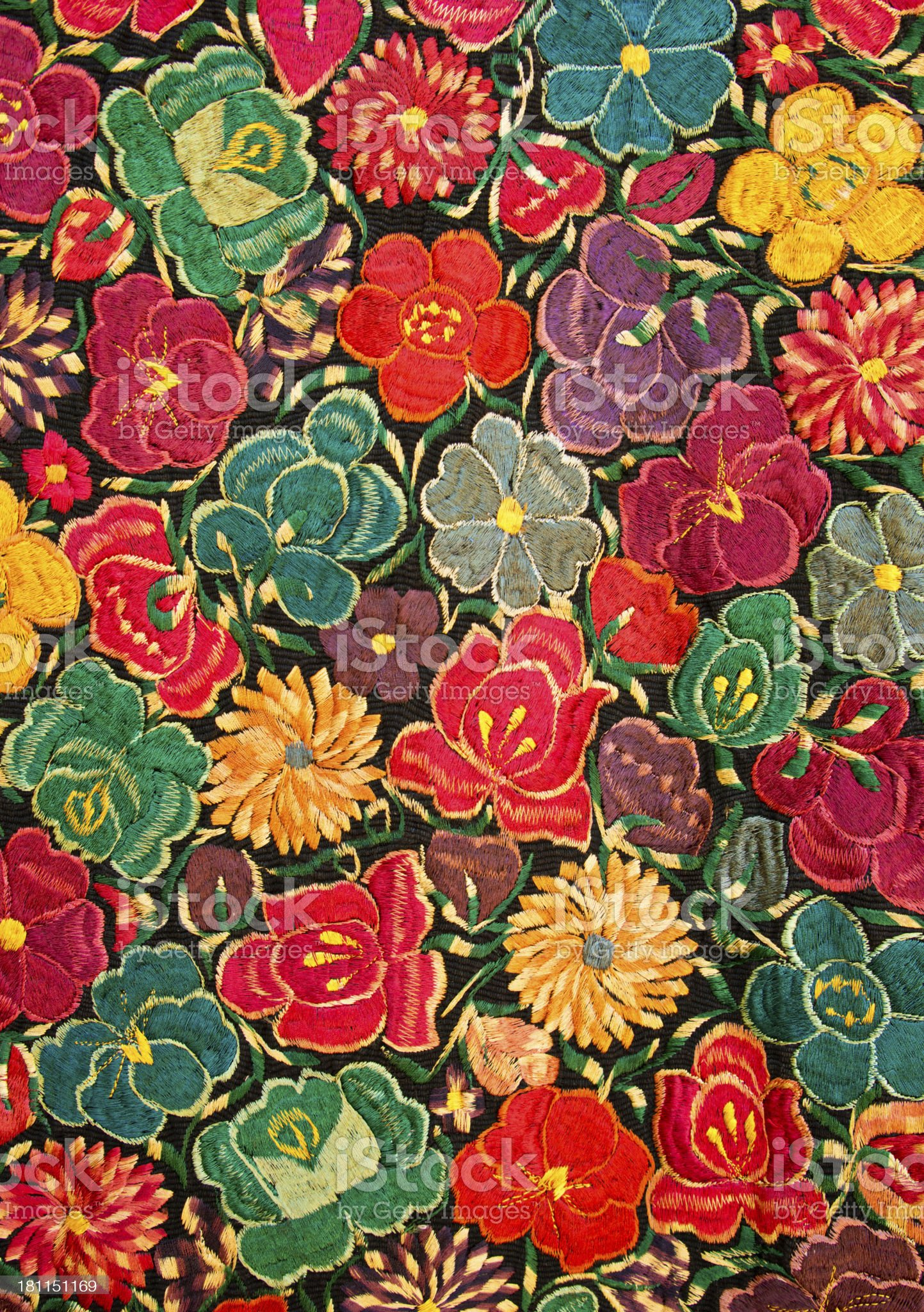 Mexican Huipil Textile Pattern Background royalty-free stock photo