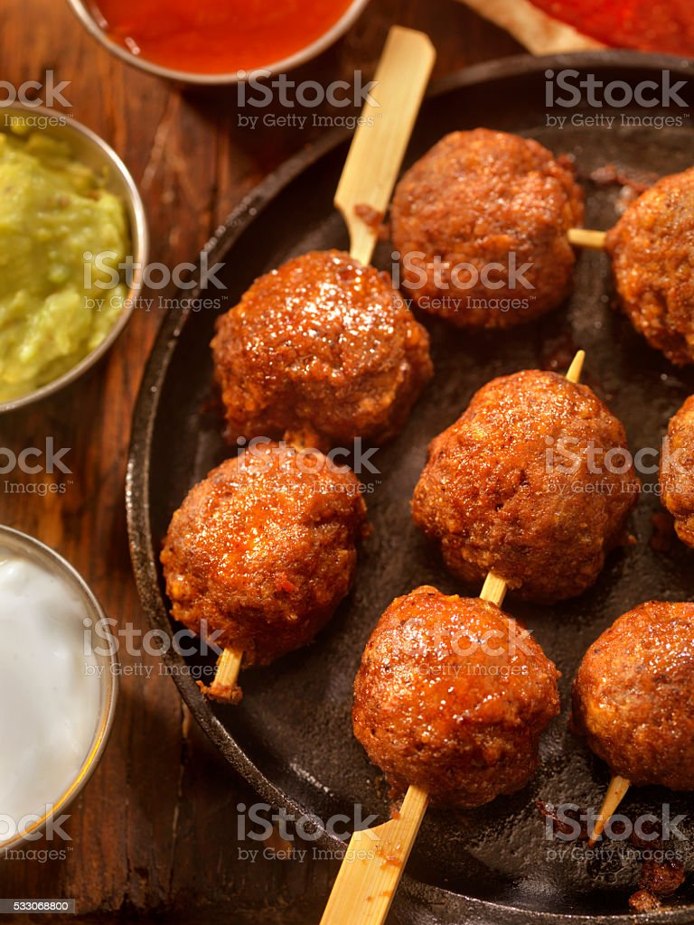 Mexican Inspired Meatballs stock photo