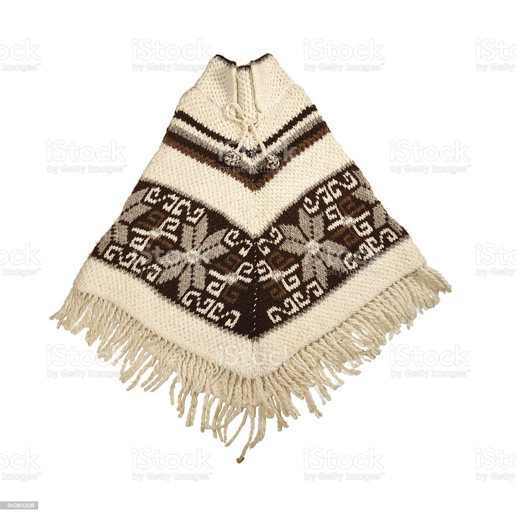 Mexican knitted poncho stock photo