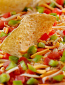 Mexican Layer Dip with Tortilla Chips