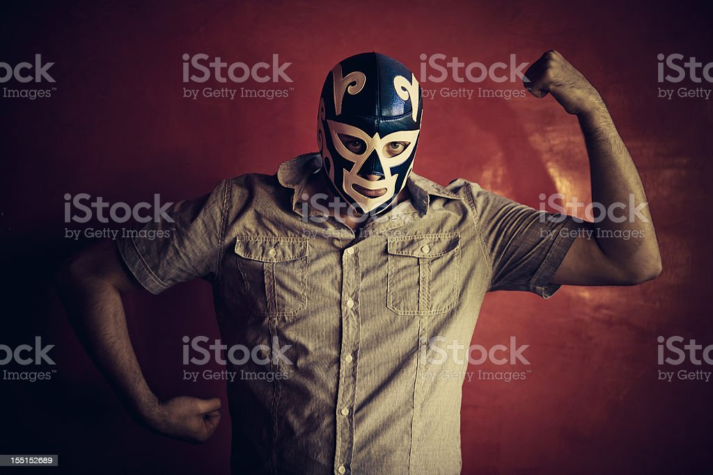 mexican luchador stock photo