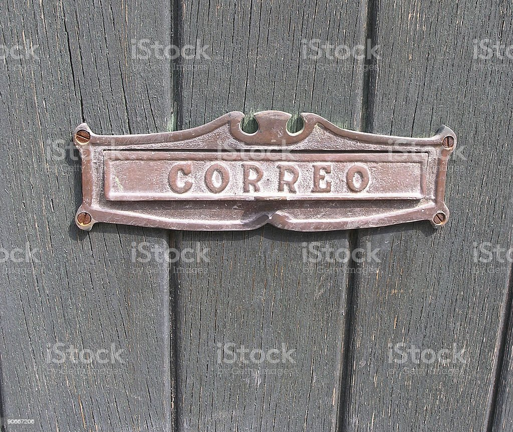 Mexican Mail Slot royalty-free stock photo