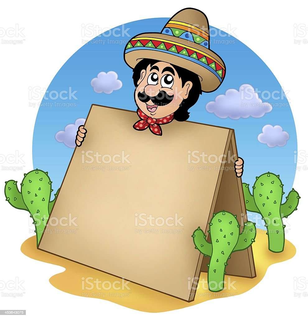 Mexican man with table in desert royalty-free stock photo