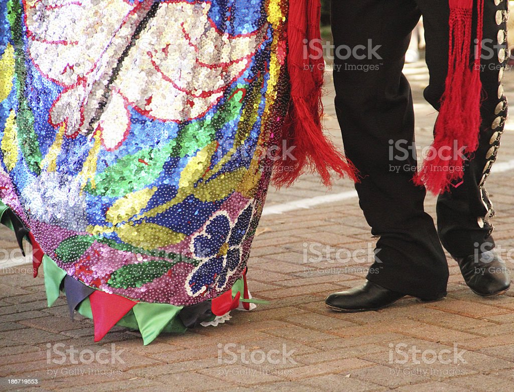 Mexican Man Woman Dance royalty-free stock photo