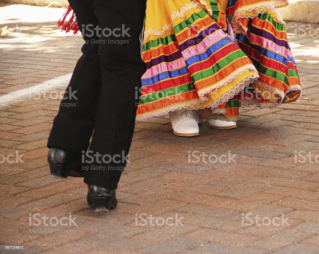 Mexican Man Woman Dance stock photo