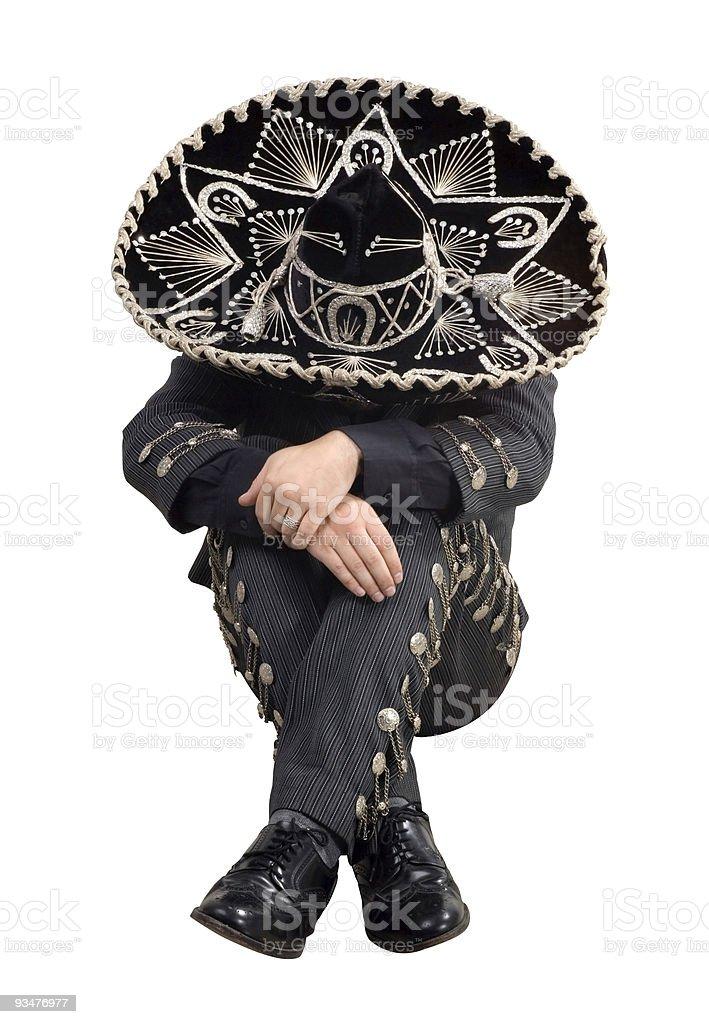 Mexican mariachi sleeping stock photo