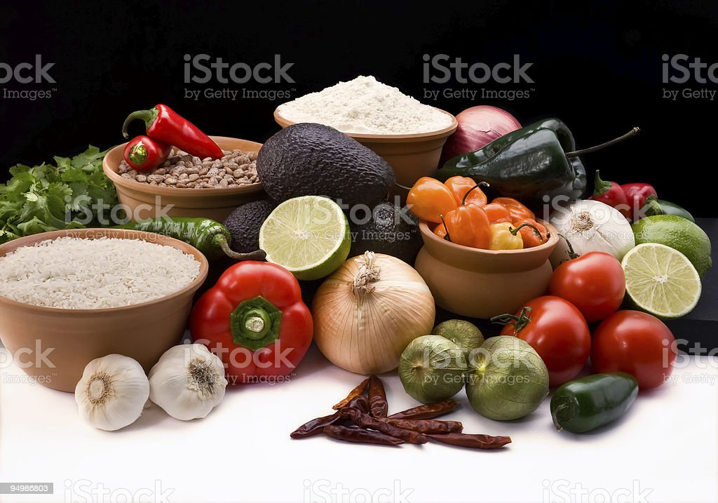 Mexican meal ingredients royalty-free stock photo