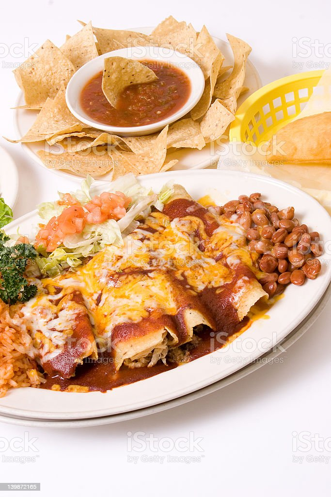 mexican meal stock photo