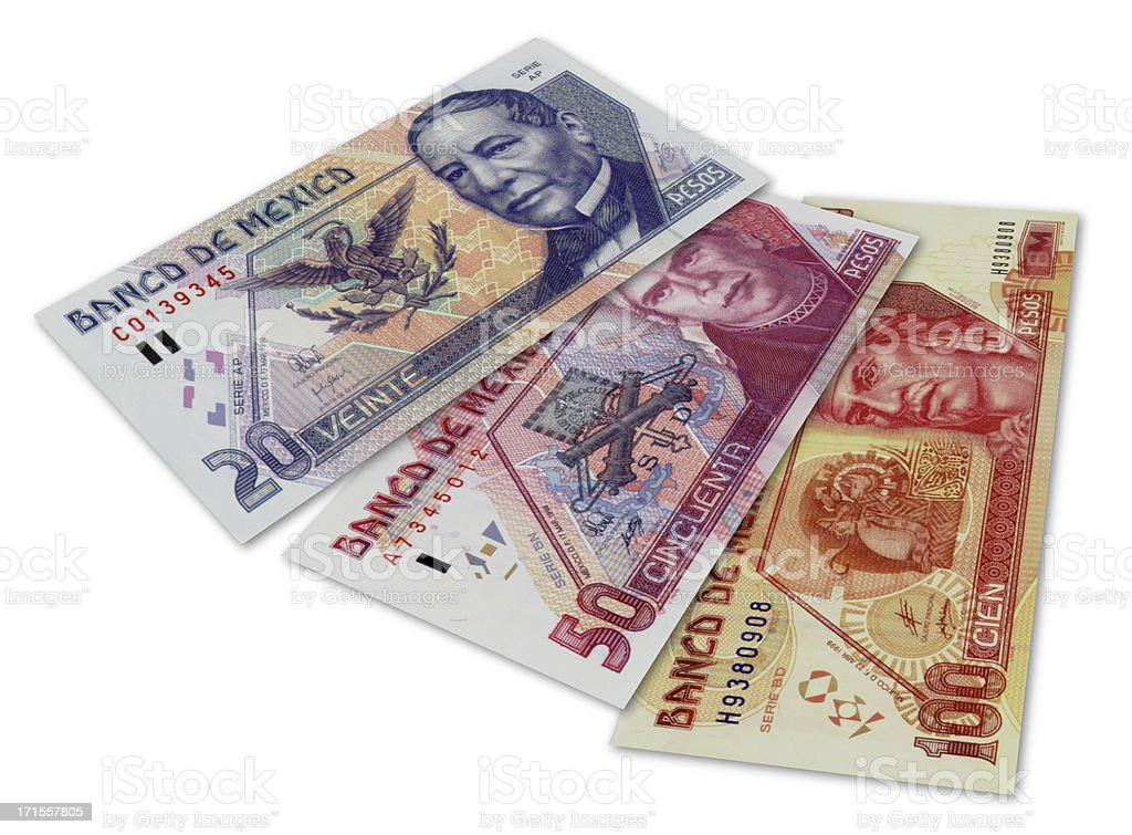 Mexican money stock photo