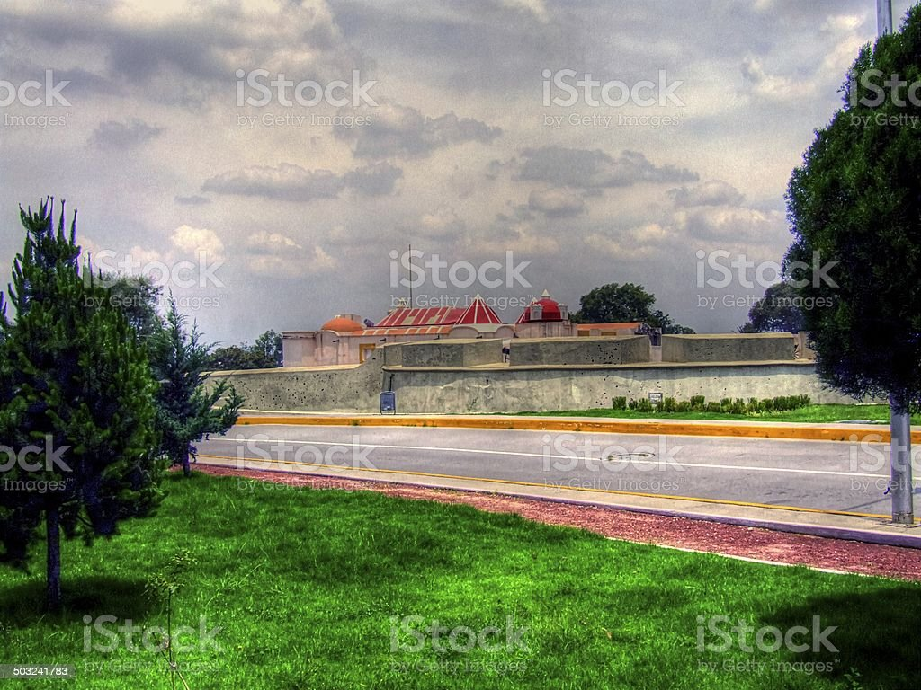 Mexican Monuments, Architectural Constructions from Mexico stock photo
