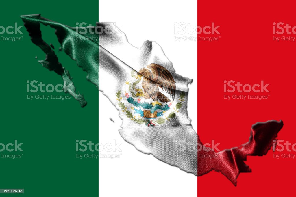 Mexican National Flag With Mexican Map 3d Rendering stock photo – Mexicanmap