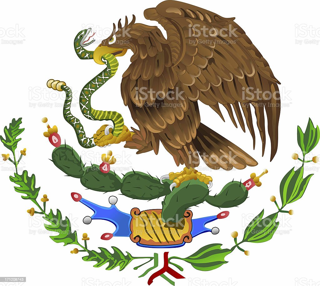Mexican National Shield (Isolated) royalty-free stock photo