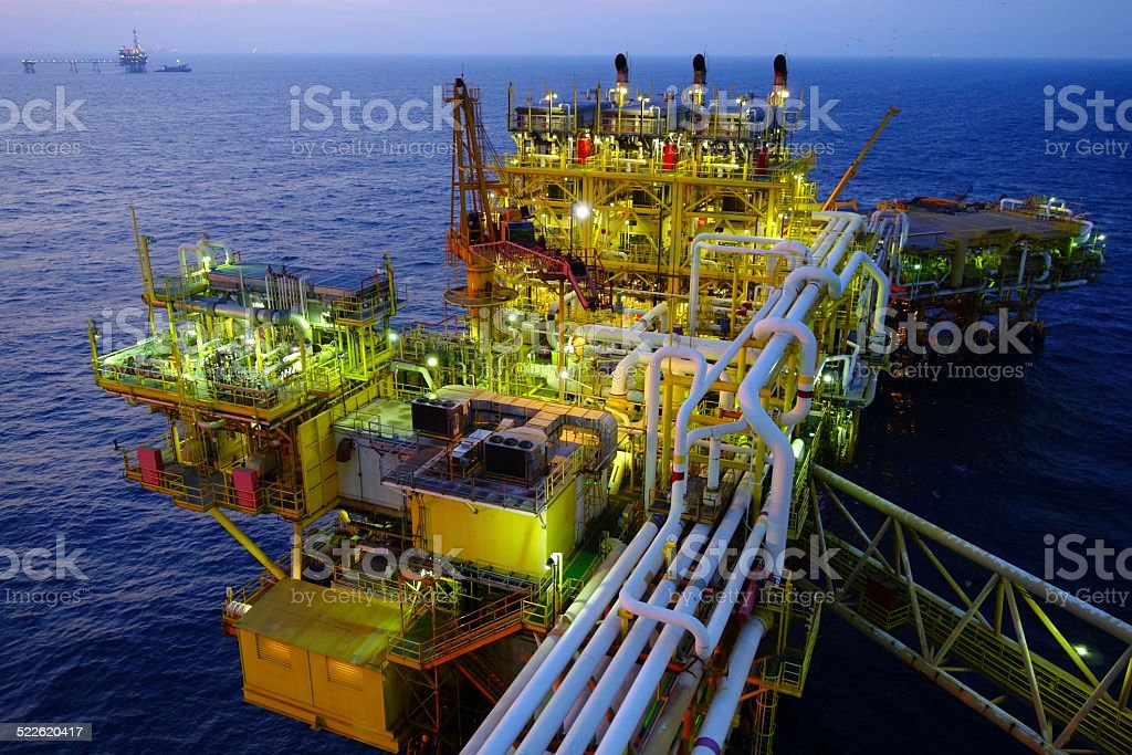Mexican offshore platform stock photo