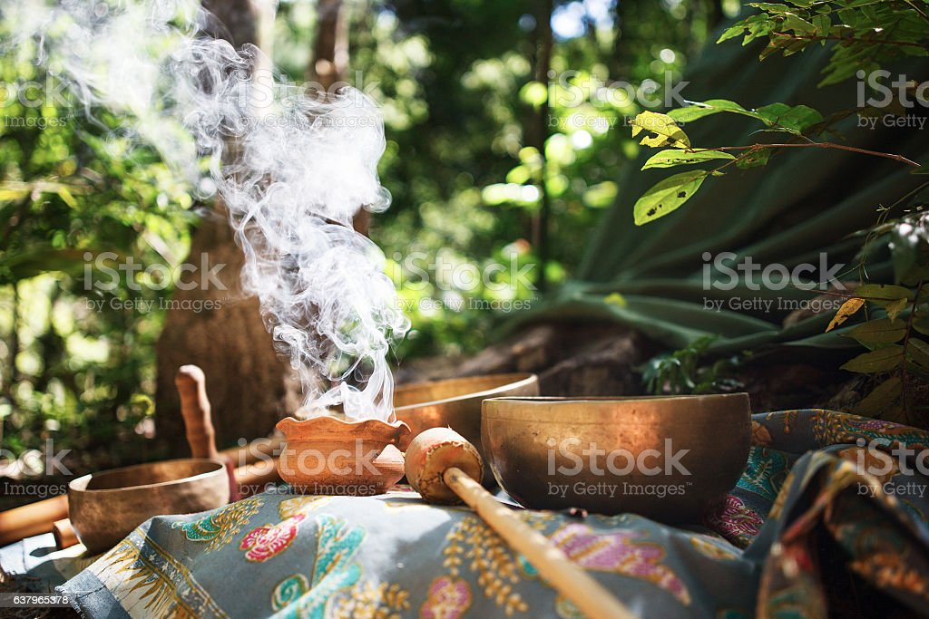 Mexican or Indian Sauna Hut - Stock image stock photo