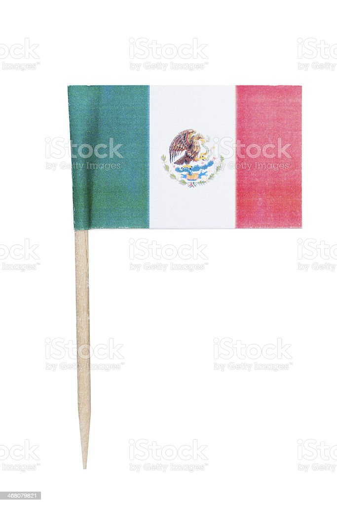 Mexican paper flag stock photo