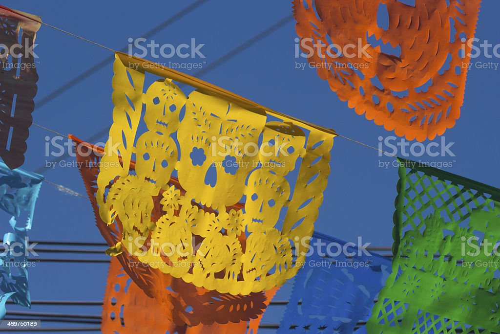 Mexican Papers of Day of the Dead stock photo