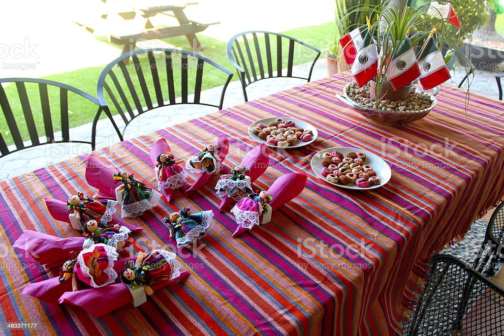 Mexican Party Table stock photo