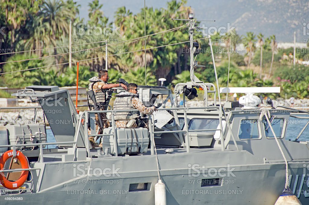 Mexican Patrol Boat royalty-free stock photo