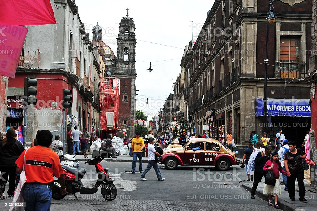 Mexican people in Mexico city, Mexico stock photo