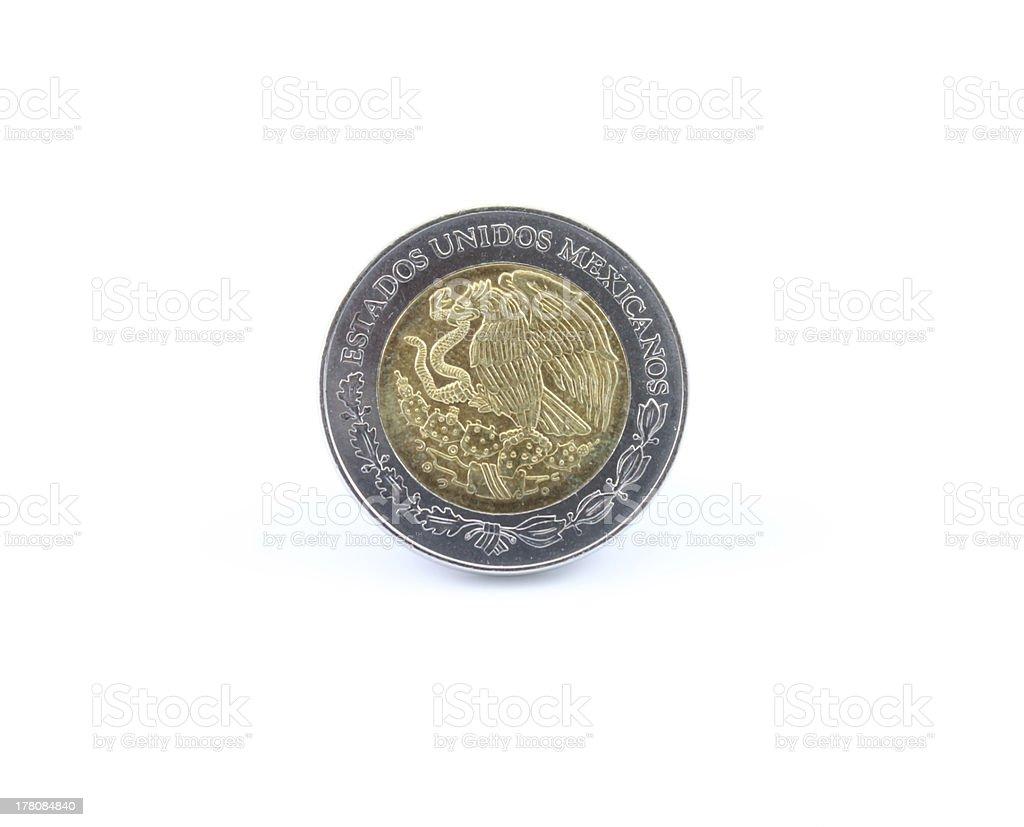 Mexican Peso Coin stock photo
