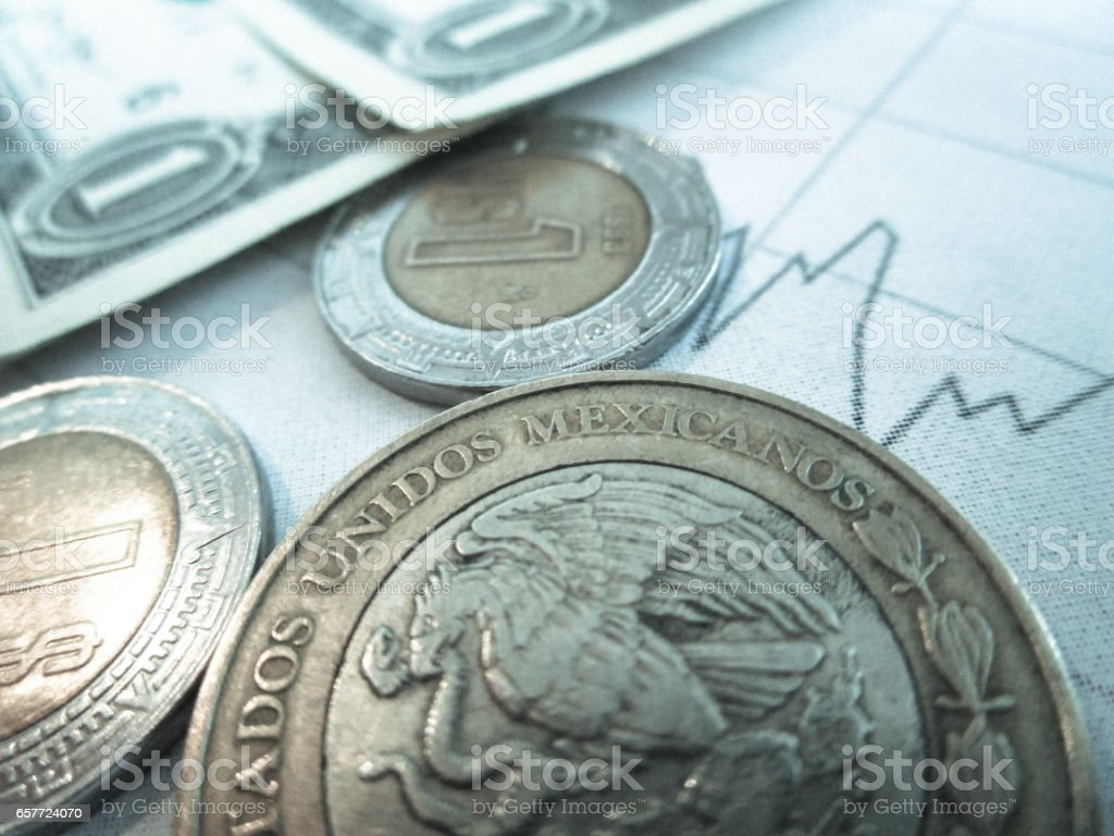 Mexican Peso Exchange Rate stock photo