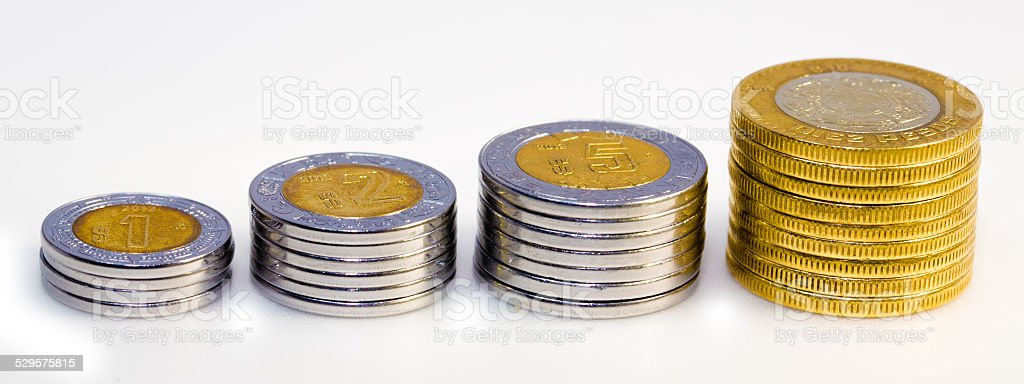 Mexican Peso Growth Graph stock photo