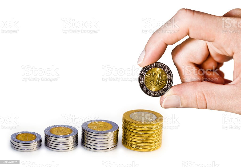 Mexican Peso Growth Hand stock photo