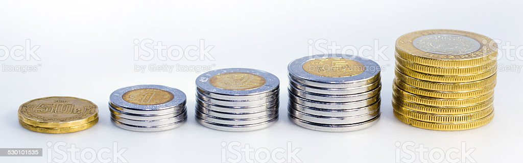 Mexican Peso long Growth Graph stock photo