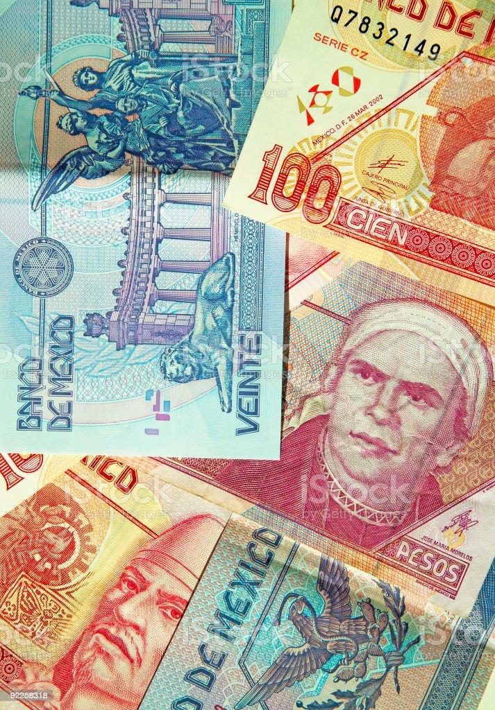 Mexican Pesos 2 stock photo