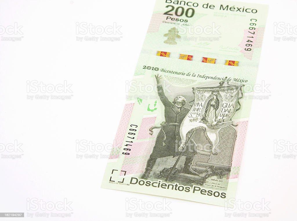 mexican pesos celebration bill stock photo