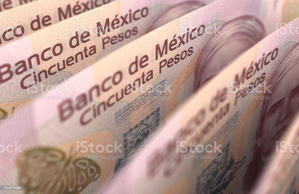 Mexican Pesos Closeup stock photo