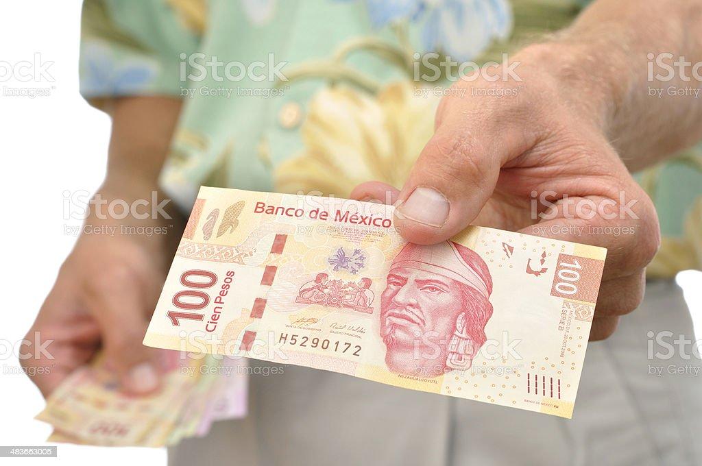 Mexican pesos stock photo