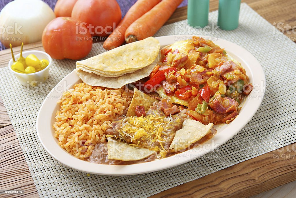 Mexican Platter royalty-free stock photo