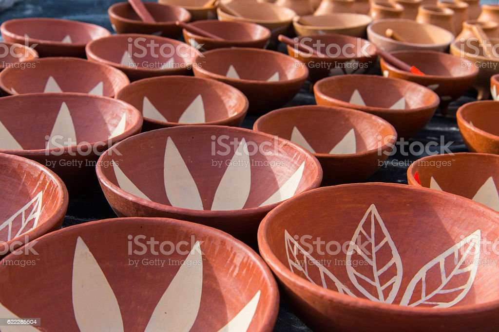 Mexican pottery stock photo
